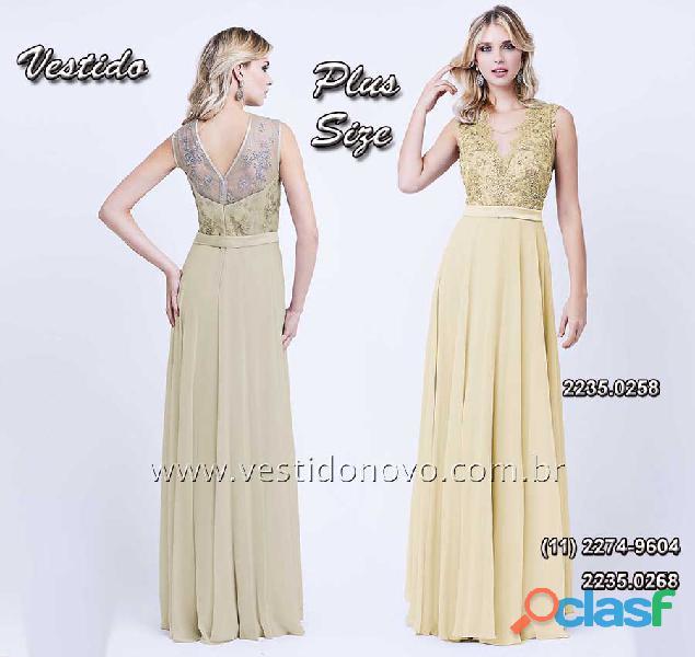 Vestido de festa de festa plus size, mae de noivo, nude com dourado, aclimação, vila mariana