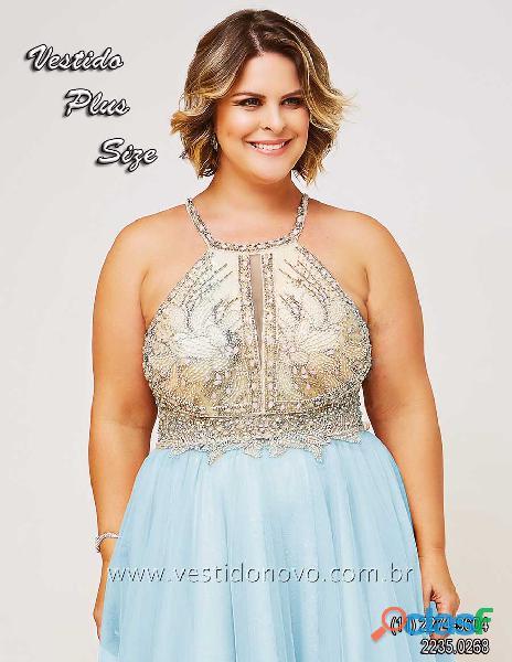Vestido plus size, azul com nude, zona sul, aclimação, cambuci