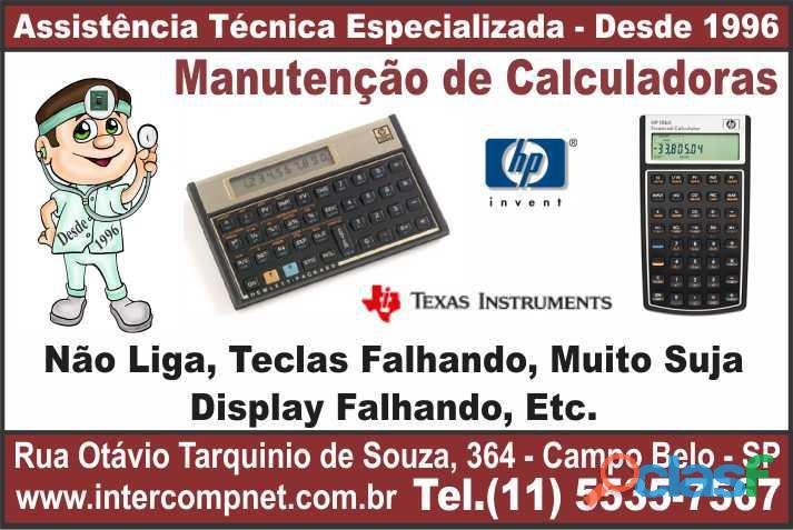 Assistência técnica calculadora hp 12c texas instruments ti são paulo sp campo belo moema brooklin i