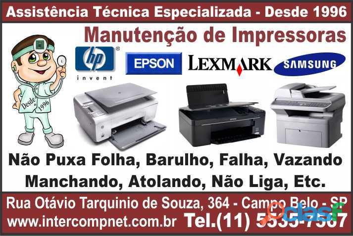 Assistência Técnica Impressora HP Epson SP São Paulo Campo Belo Moema Brooklin Itaim Santo Amaro