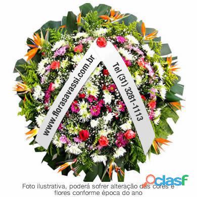 Coroas de flores floricultura cemitério e velório de belo horizonte,contagem,novalima, sabará mg