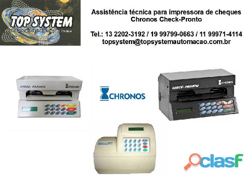 Impressora de cheque chronos check pronto e plus assistência técnica instalação e venda em são paulo