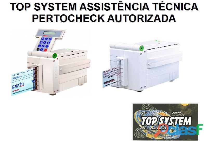 Impressora de cheque pertocheck assistência técnica autorizada, venda e instalação em são paulo