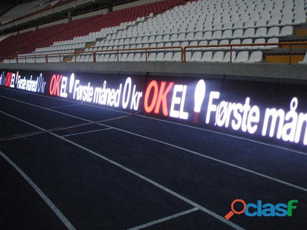 Painel de leds para o perímetro de estádio de futebol e eventos esportivos 3