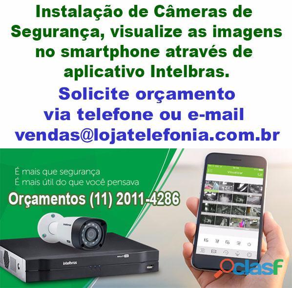 Instalação de cameras de |segurança visualização internet / celular