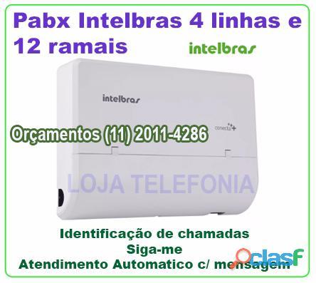 Pabx modulare mais intelbras com 4 linhas e 12 ramais