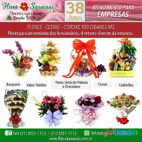 Flores cestas big shopping, itaú power shopping e shopping contagem em contagem