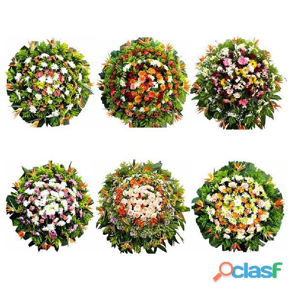 R$ 190,00 coroas de flores cemitério parque renascer em contagem sem frete