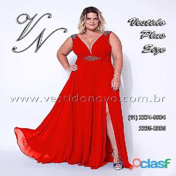 Vestido vermelho mae do noivo plus size da casa do vestido novo zona sul