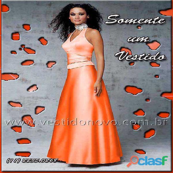 Vestido laranja de formatura, zona sul, aclimação, cambuci