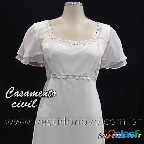 Vestido branco, casamanto civil, aclimação, cambuci, vila mariana