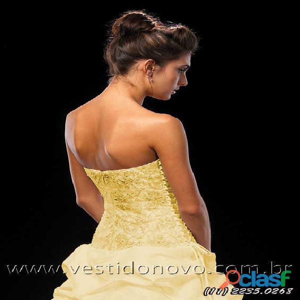 Vestido amarelo da loja vestido novo, aclimação, vila mariana, ipiranga