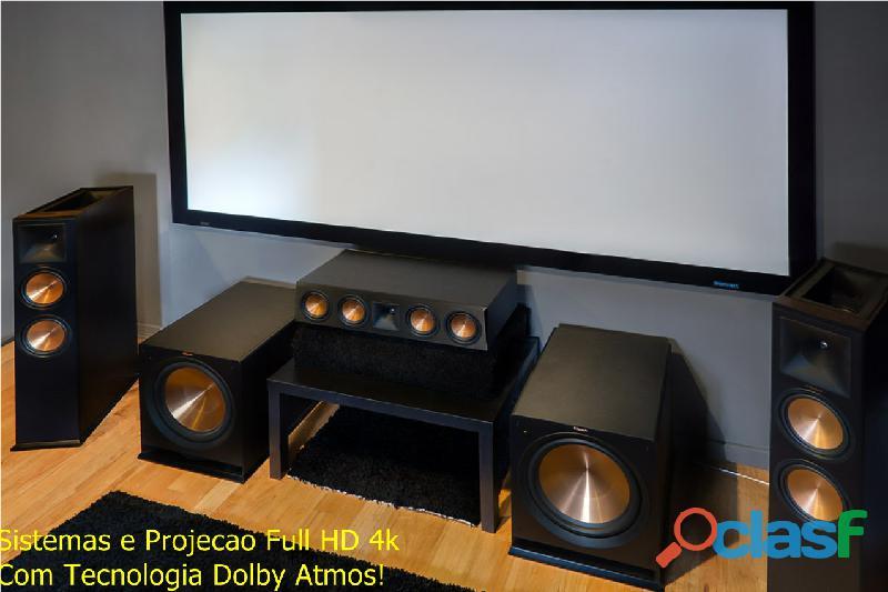 Som Ambiente® Equipamentos Projetos Instalação Manutenção, Multimídia home Theater 3
