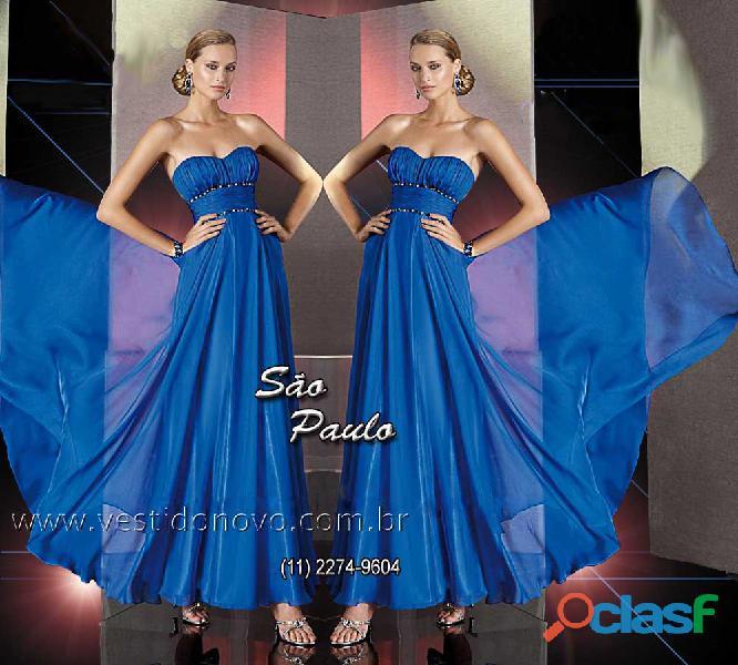 Vestido mãe de noiva, azul royal, aclimação, vila mariana, zona sul