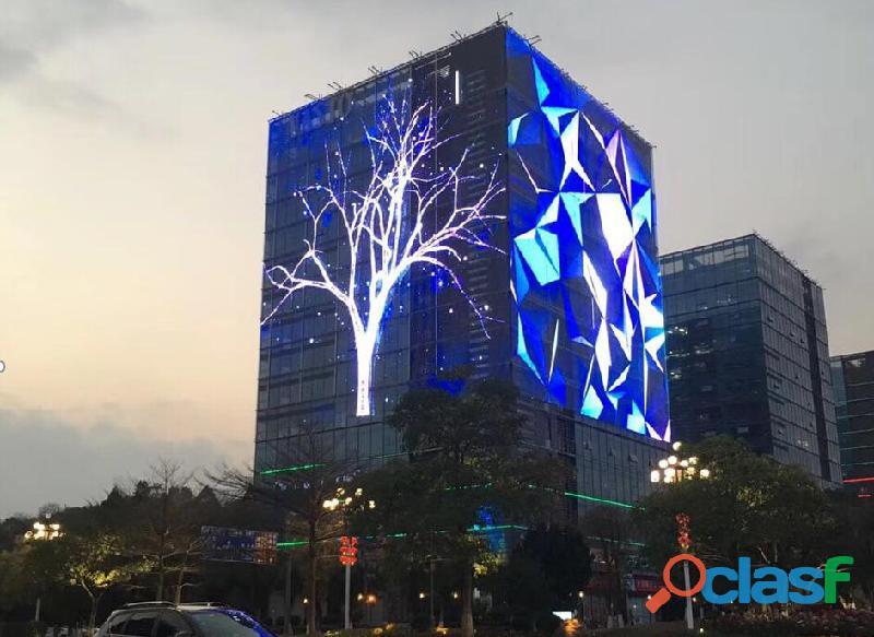 Malha de led, cortina led, painéis de led de transparência para fachadas de arquitetura e construção