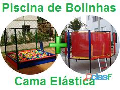 Cama elástica + piscina de bolinhas aluguel