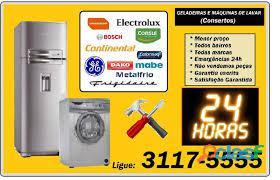 Conserto máquinas de lavar zona sul, norte e centro. hoje mesmo. ligue: 3117 5555