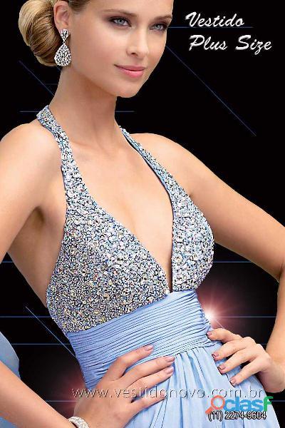 Vestido plus size formatura azul claro loja na aclimação zona sul