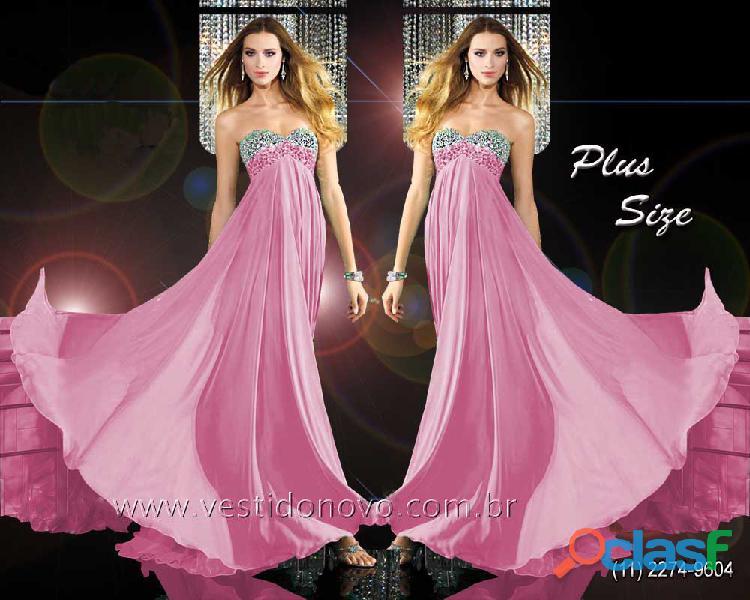 Vestido de formatura rosa plus size, aclimação, vila mariana, zona sul