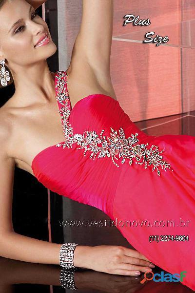 Vestido plus size formatura vermelho melancia, aclimação, vila mairiana   zona sul