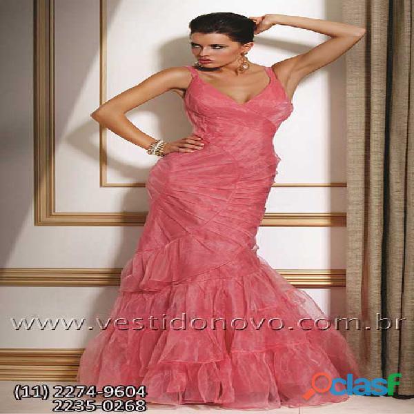 Vestido sereia de formatura na cor coral , aclimação, vila mariana, zona sul