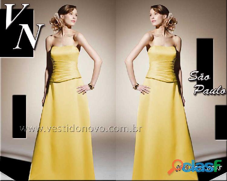 Vestido de formatura, madrinha de casamento amarelo , aclimação, vila mariana, zona sul