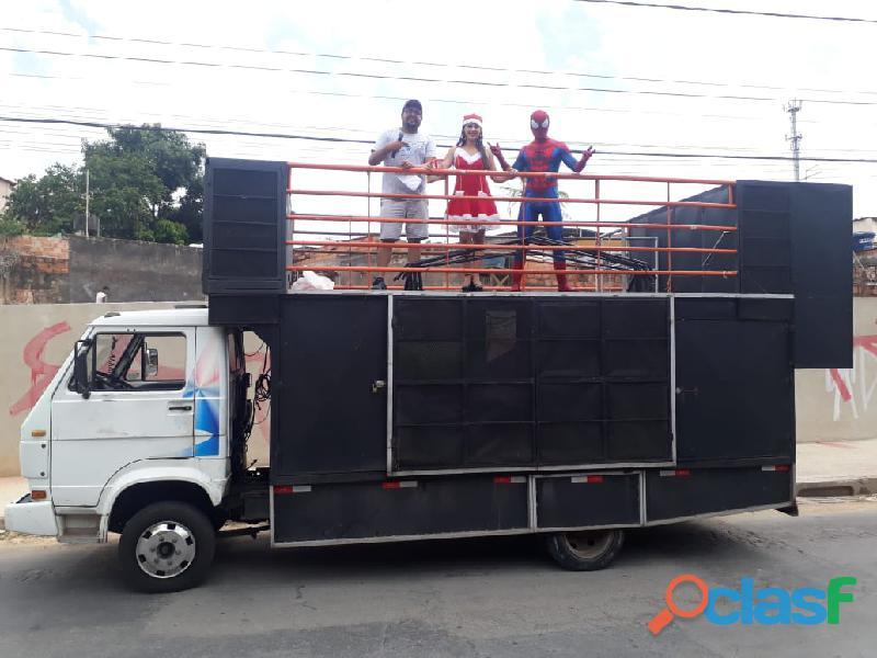Propaganda volante mini trio elétrico carro de som bh