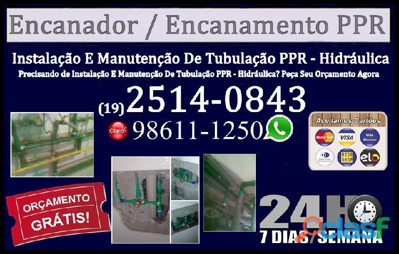 Encanador em campinas especializado em canos de pvc, cobre e ppr 2514 0843