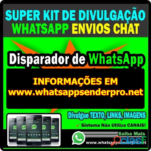 kit completo whatsapp marketing envios em massa