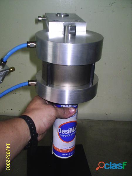 ENVASE Aerosol Maquina TEKNIZA para fabricação dos PRODUTOS 4