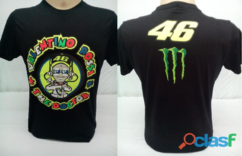AA   Camisetas Moto Velocidade Valentino Rossi, VR46, The Doctor, The Donkey, BMW, Monster 5