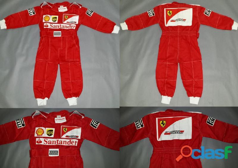 Macacão Infantil Corrida Unissex Ferrari, Renault, Repsol, RedBull, Harley 19