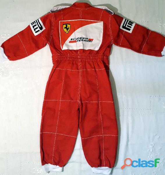 Macacão Infantil Corrida Unissex Ferrari, Renault, Repsol, RedBull, Harley 12
