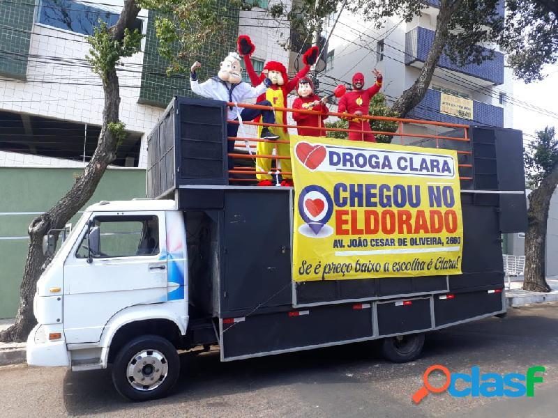 propaganda Carro de som trios elétricos carnaval em Contagem e bh