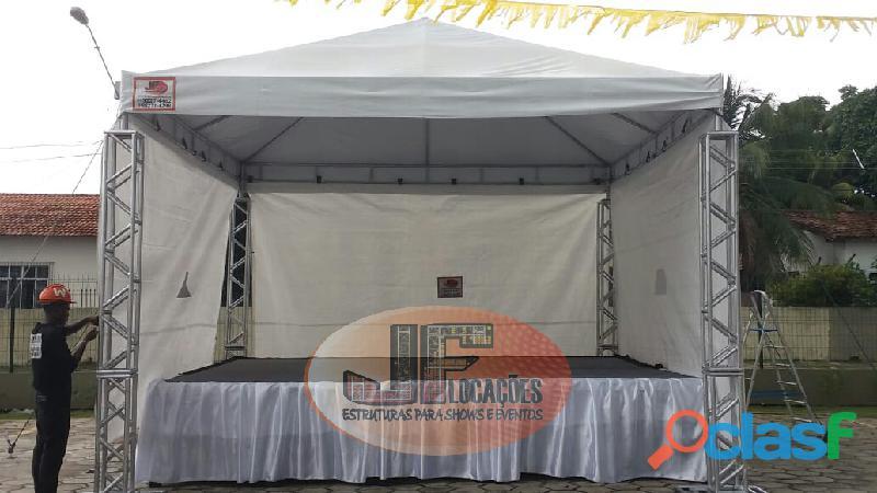 Locação de palco com e sem cobertura em belém