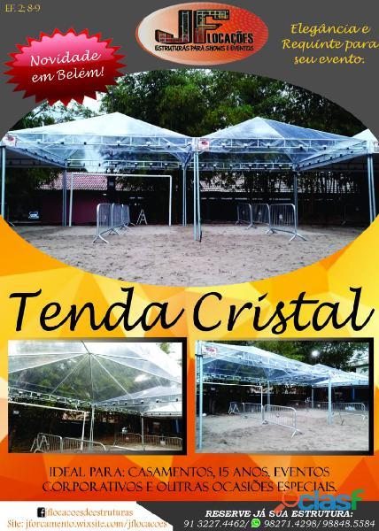 Locação de tenda cristal em belém.
