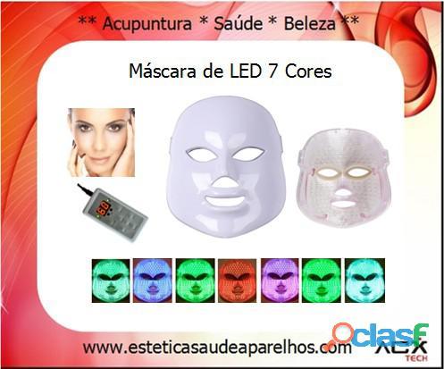Máscara de led de 07 cores com controle digital