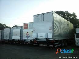 Frete e transporte aluguel(van)iveco baú com plataforma hidráulica 4