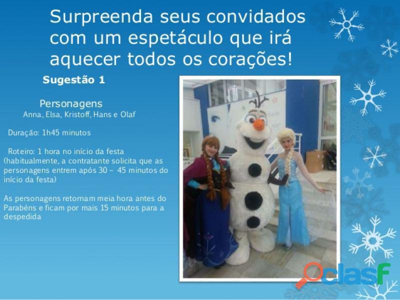 .:. Aluguel Locação Vendas Personagens Vivos Frozen