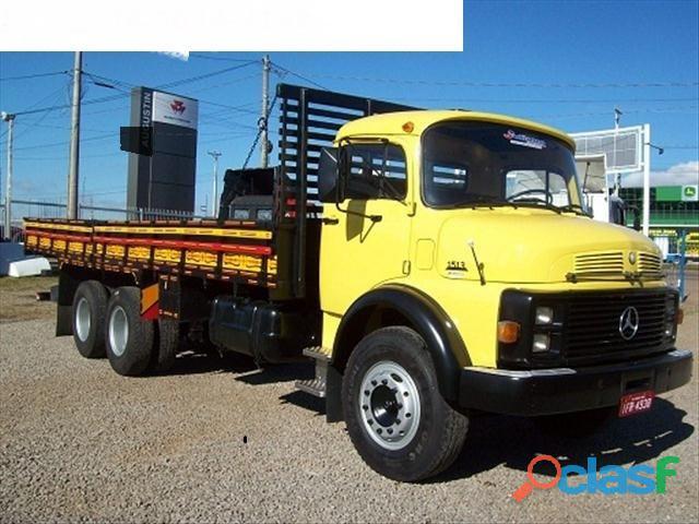 Caminhão mb 1513 ano 1978 truck turbo direção