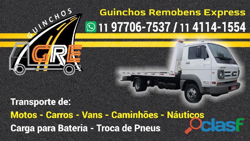 Guincho interlagos 011 977067537 ou 011 411411554 carga em bateria