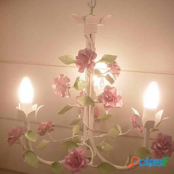 Lustre 3 lumieres lampadas quarto menina