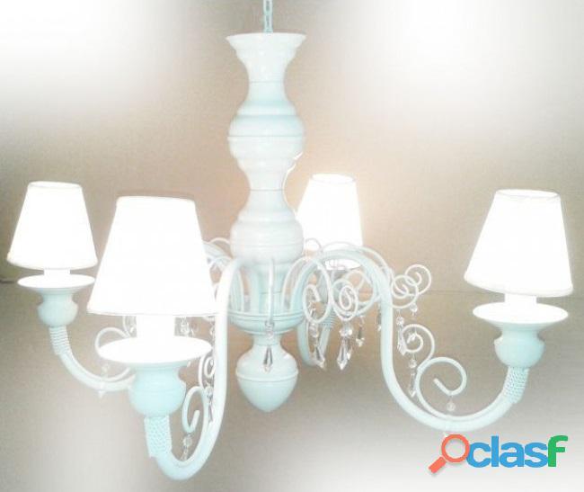 Lustre 4 lumieres lampadas