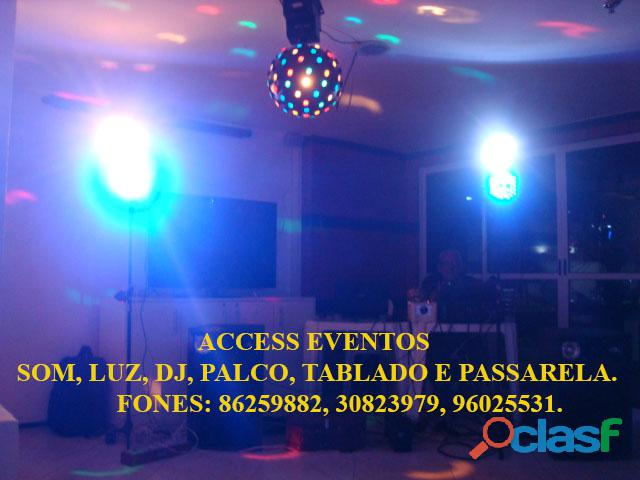 Som, Luz, dj, Palco, Tablado,Tenda, Passarela, Som Pra Banda, tablado de vidro. Ligue 9 8625 9882. 12