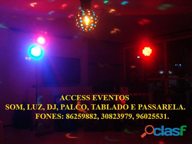 Som, Luz, dj, Palco, Tablado,Tenda, Passarela, Som Pra Banda, tablado de vidro. Ligue 9 8625 9882. 9