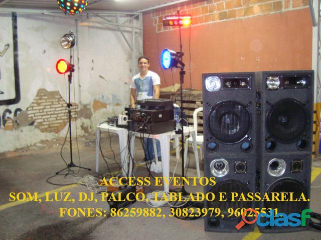 Som, Luz, dj, Palco, Tablado,Tenda, Passarela, Som Pra Banda, tablado de vidro. Ligue 9 8625 9882. 16