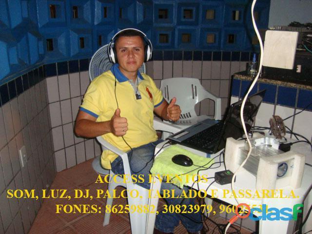 Som, Luz, dj, Palco, Tablado,Tenda, Passarela, Som Pra Banda, tablado de vidro. Ligue 9 8625 9882. 8