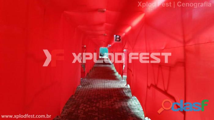 Túnel em Lycra Tensionada