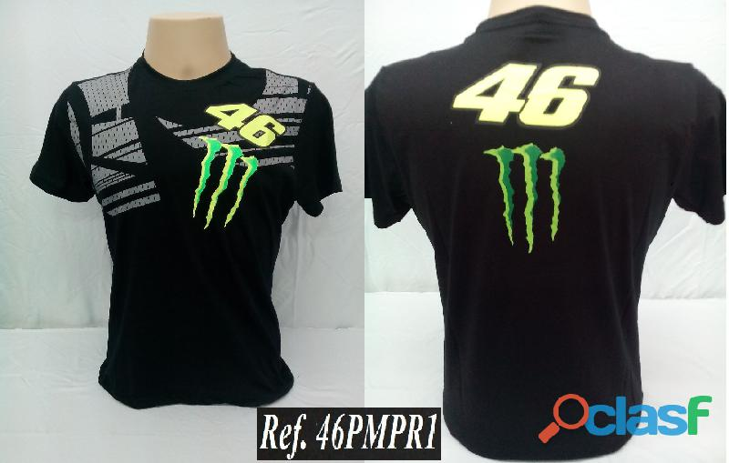AY Camisetas Moto Velocidade Valentino Rossi, VR46, The Doctor, The Donkey, BMW, Monster 1