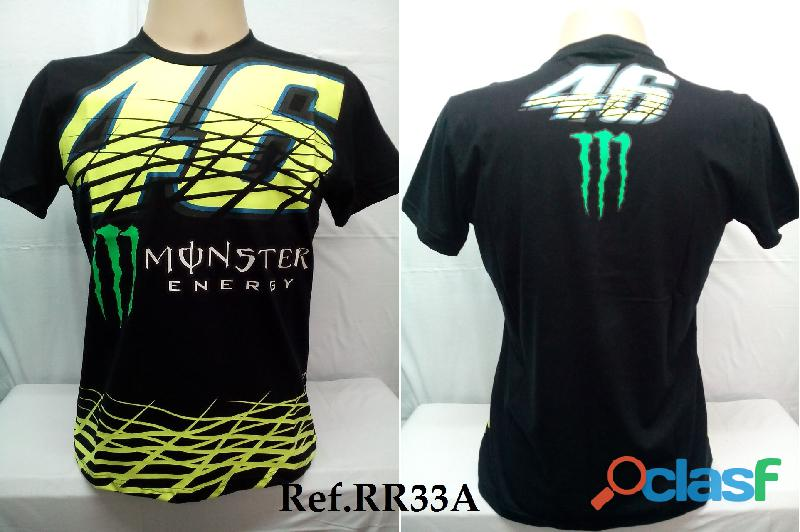 AY Camisetas Moto Velocidade Valentino Rossi, VR46, The Doctor, The Donkey, BMW, Monster 8
